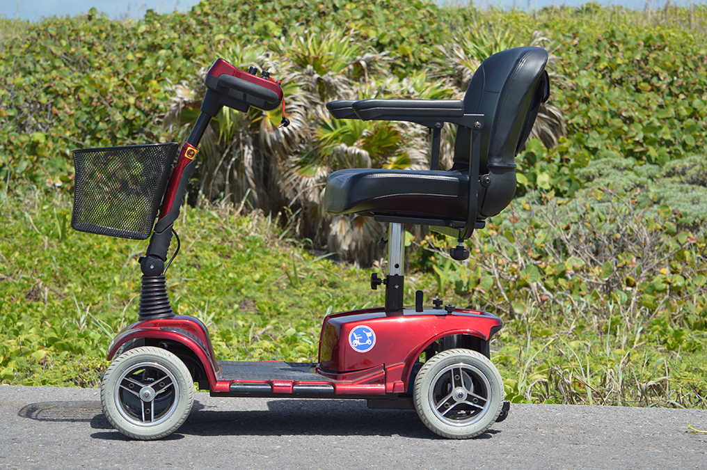 Cozumel mobility scooter rentals free pick up and drop for Motorized beach wheelchair rental